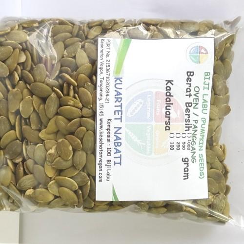 Foto Produk Pumpkin Seed - Biji Labu Kupas - Oven - Roasted - Matang 500 Gr dari Kesehatan Vegan