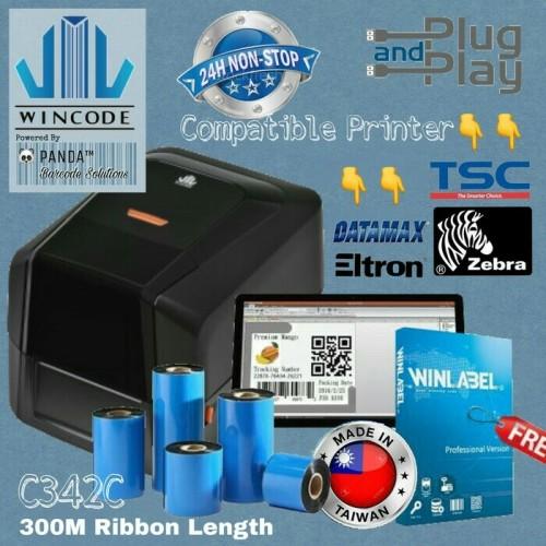 Foto Produk PRINTER BARCODE WINCODE C342C SETARA TSC 244 dari jesstech barcode bandung
