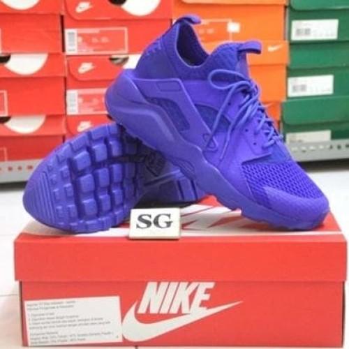 Sepatu Casual Nike Air Huarache Run Ultra Br Blue Original Asli