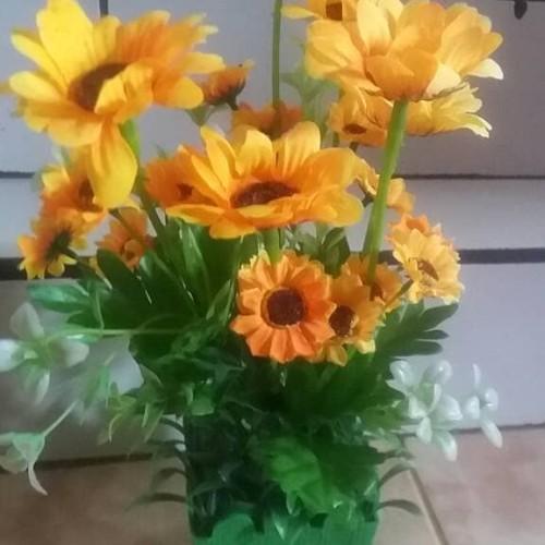 Foto Produk matahari mini / bunga plastik dari fatih bunga plastik
