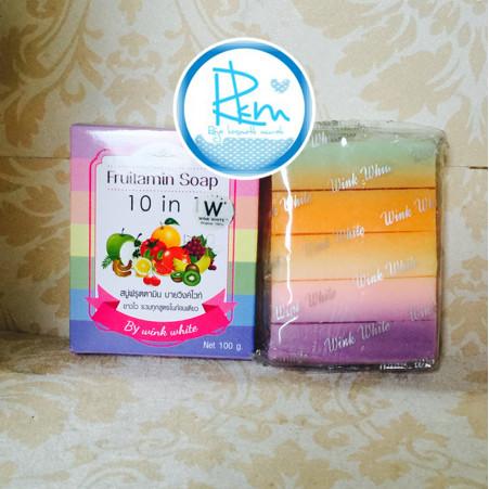 Foto Produk Sabun Pemutih Badan Fruitamin Soap 10 in 1 Wink White Asli Original dari DIVAKAILA