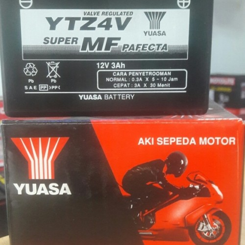Jual Aki Original Motor Yamaha Matic Yuasa Ytz4v Ytz5s Aki Kering Jakarta Selatan Langgeng Battery Tokopedia