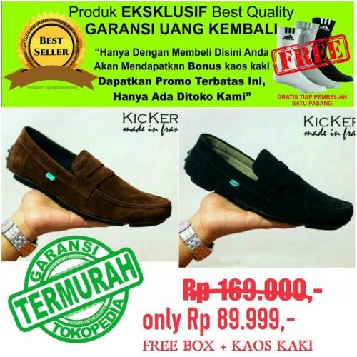 Foto Produk kickers javelin sepatu pria casual kulit asli OBRAL SALE #kreasilokal dari Sepatu Distro Bandung