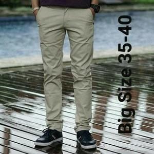 Foto Produk celana chino panjang pria warna cream size 35-40 jumbo dari Baijonk Store Bandung