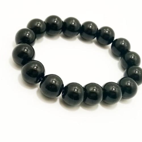 Foto Produk VeE Gelang Terapi Kesehatan Batu Giok Hitam / Black Jade Dim 12 dari Vee Jewelry