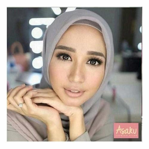 Foto Produk Jilbab segiempat double hycon/hijab segiempat rawis polos RAWIS SQUARE dari Ararya-grosir