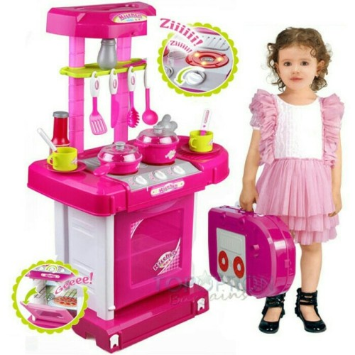Foto Produk kitchen set koper /mainan anak perempuan /mainan masakan dari OB (ORANGE BLUE) toys