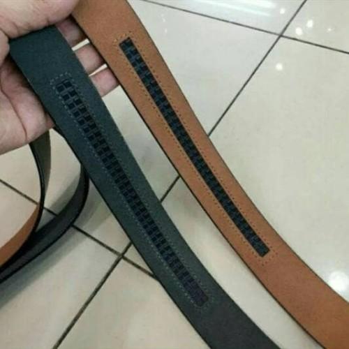 Foto Produk tali gesper pria ikat pinggang cowok kulit asli 100% import dari feliceshop88
