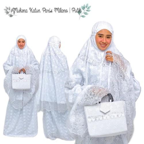 Foto Produk MUKENA KATUN PARIS MILANO PUTIH dari Pusat Mukena Indonesia