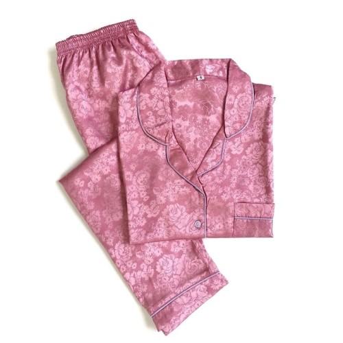 Foto Produk Piyama Mewah  Pink Blossom Rosy Satin Baju Tidur Pajamas Wanita PSR5 dari JURAGAN-SINAGA