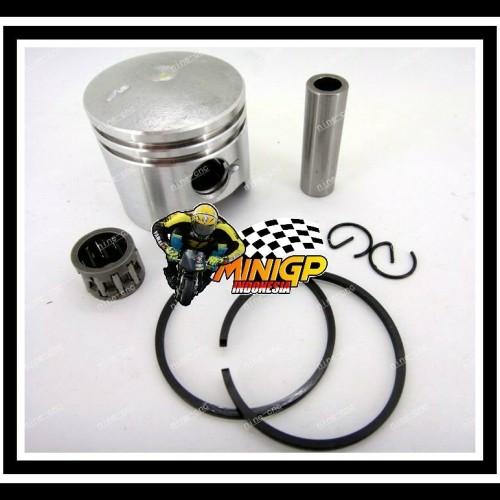 Foto Produk PISTON COMPLETE SET RING 44MM 44-6 ORIGINAL MOTOR MINI 49CC 50CC dari minigp indonesia