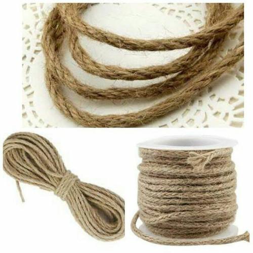 Foto Produk Tali Goni 3mm Tali Rami Bahan Craft Rope tali Tambang kecil dari Wimpy Clay