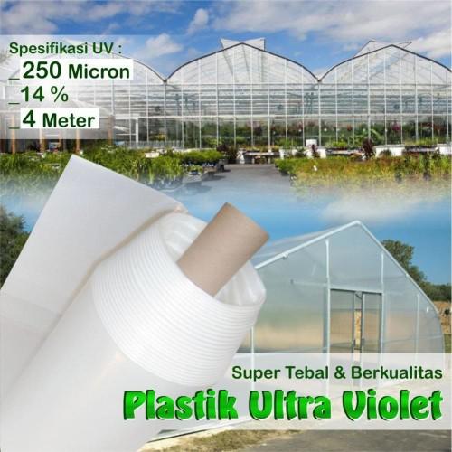 Foto Produk Plastik UV Green House ukuran 250 Micron 14 persen Lebar 4 meter dari Sumber Berkat Mandiri