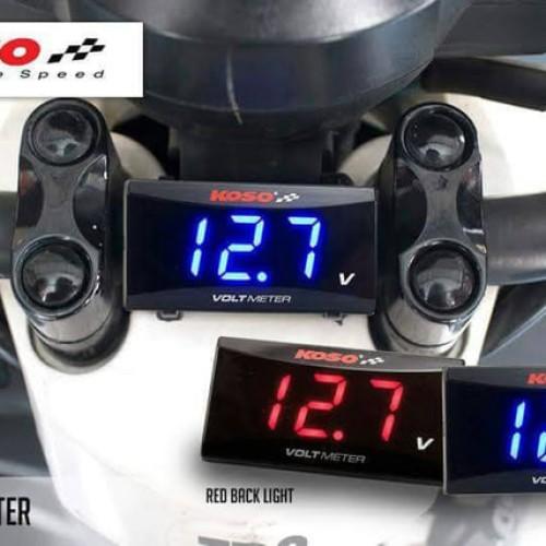 Foto Produk Volt Meter / voltmeter Koso Super Slim Style untuk motor / mobil dari Jakarta e-shop