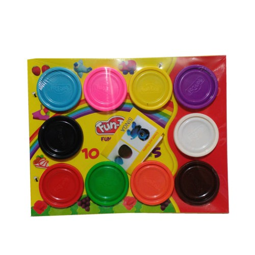 Foto Produk (Murah) Fun Doh Refill 10pcs Lilin Mainan Edukasi Anak Murah dari kalarta shop