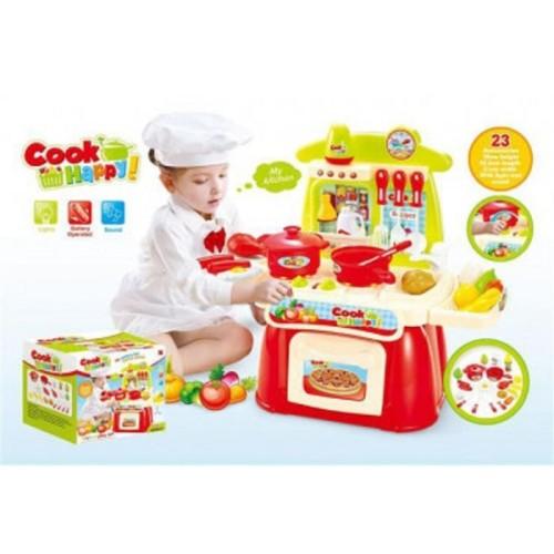 Foto Produk Cook Happy Kitchen Playset Pink 889-31 - Mainan Masak-Masakan Besar dari kalarta shop
