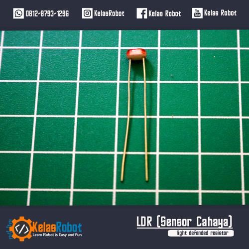 Foto Produk Sensor Cahaya LDR 5MM 5539 Resistor dari Kelas Robot