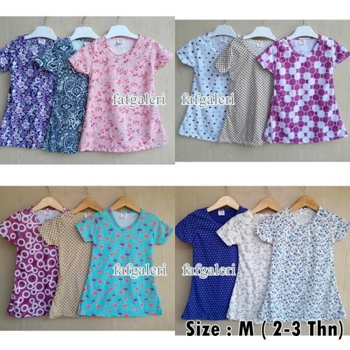 Foto Produk 2-3 Thn # Baju Atasan Anak Perempuan Bahan Kaos - Harga Grosir Murah dari FAF Galeri