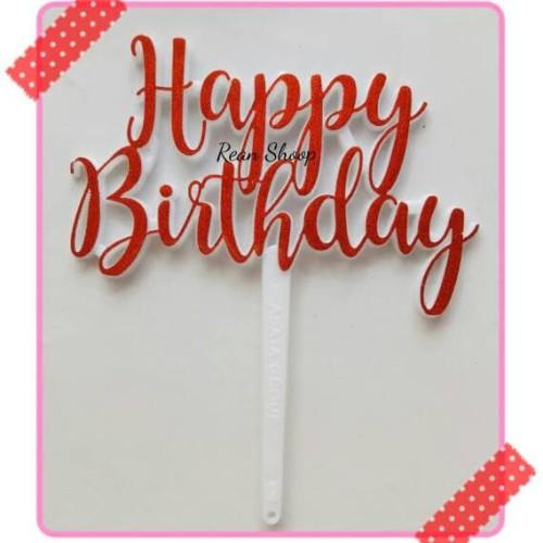 Foto Produk Topper toper hiasan cake happy birthday kue ulang tahun akrilik orange dari reanolshoop