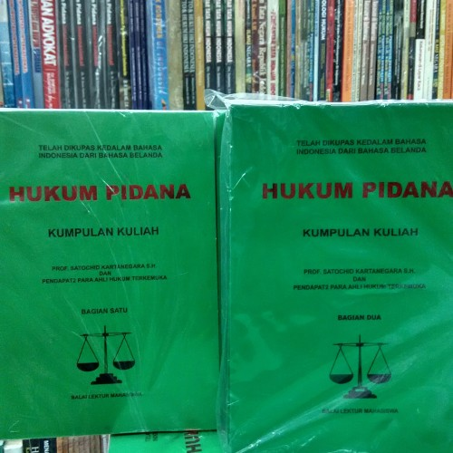 Foto Produk Hukum pidana 1 set.jld 1&2.satochid dari tumbas buku