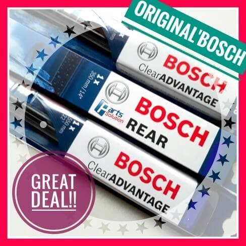 Foto Produk Paket Wiper Depan Belakang Chevrolet Captiva BOSCH Clear Advantage dari Parts Solution