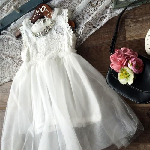 Foto Produk Dress Putih Dress Kondangan Anak Flower Girl BC1410 Camilla White Dres - 3-4 tahun dari LollaLand