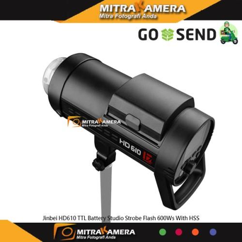 Foto Produk Jinbei HD610 TTL Battery Studio Strobe Flash 600Ws With HSS - Hitam dari mitrakamera