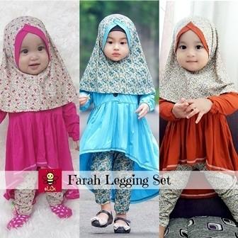 Foto Produk baju anak perempuan/baju muslim anak/ gamis anak/legging anak/farah dari LittleBee Boutique