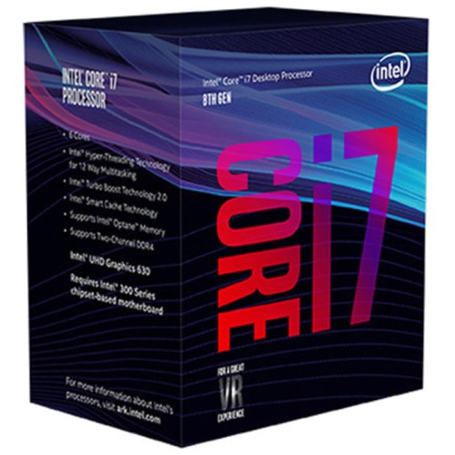 Foto Produk Intel Core i7 8700 BOX 3.2Ghz (Socket 1151 Coffee Lake) dari toko expert komputer
