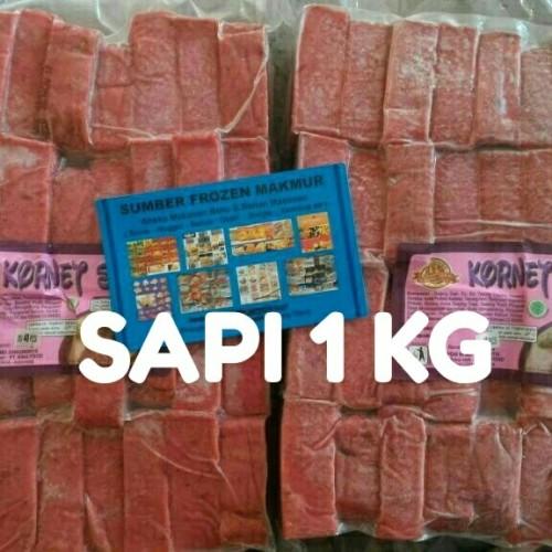 Foto Produk kornet sapi 1 kg potongan 40 piece king food. sumber frozen makmur dari SUMBER FROZEN MAKMUR