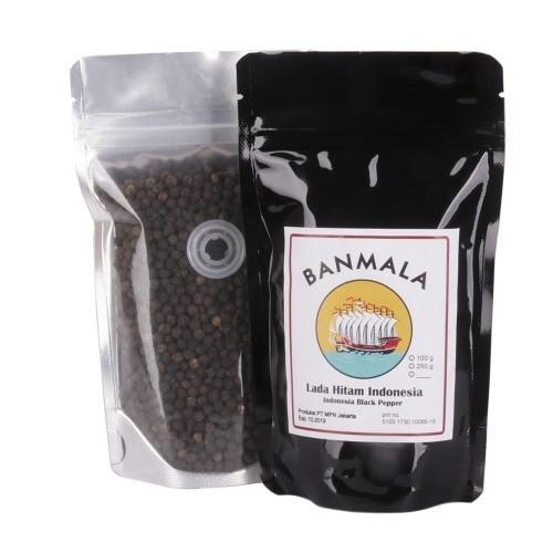 Foto Produk Lada hitam premium 80g biji/bubuk black pepper Banmala Spices - Bubuk dari Maharaja Coffee