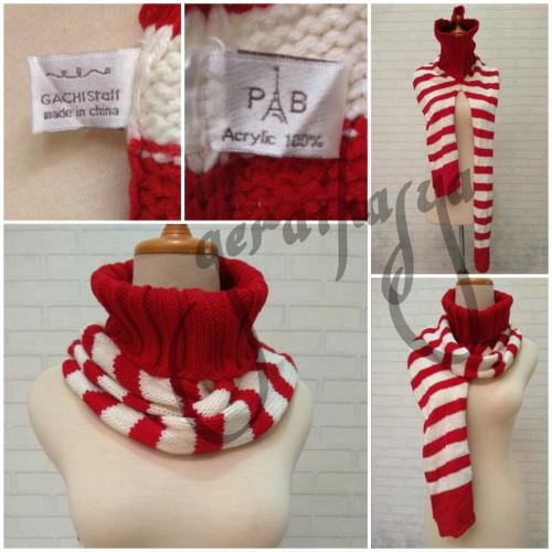 Foto Produk syal scarf shawl merah putih long neck PB gachi staff #311 dari Gerai Hasya
