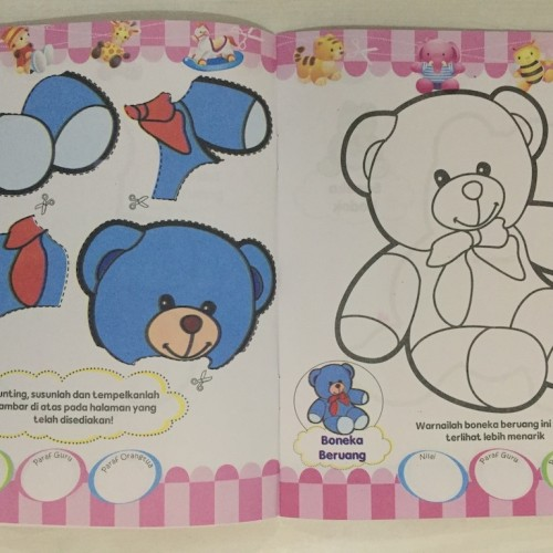 Foto Produk Buku Aktivitas Gunting Tempel Mewarnai - Buku Anak Kreatif - KENDARAAN dari Kinantikomik