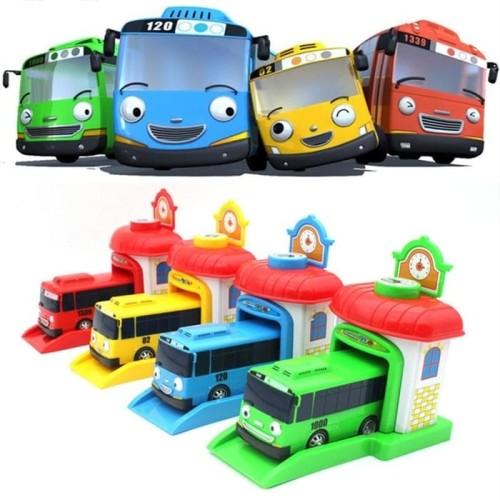 Foto Produk Mobil Tayo Garasi Pelontar - The Little Bus Tayo Garage Satuan dari toy house