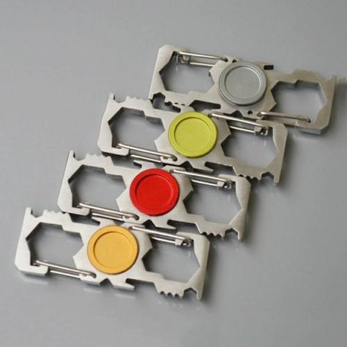 Foto Produk steel carabiner edc outdoor multifunction fidget spinner dari tokonline jakarta