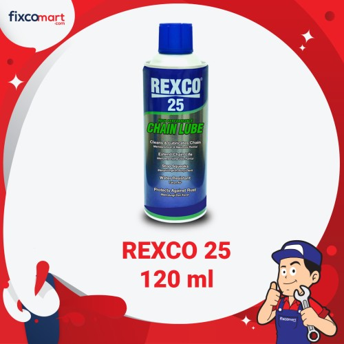 Foto Produk Rexco 25 Chain Lube 120 Ml / Pelumas Rantai dari FIXCOMART