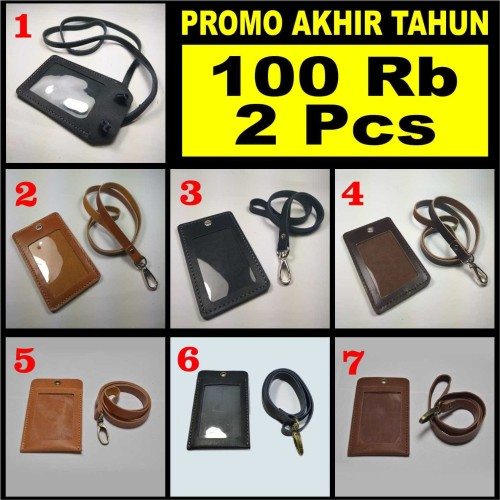 Foto Produk PROMO 100Rb 2 Pcs - gantungan dompet id card holder kulit asli dari philo