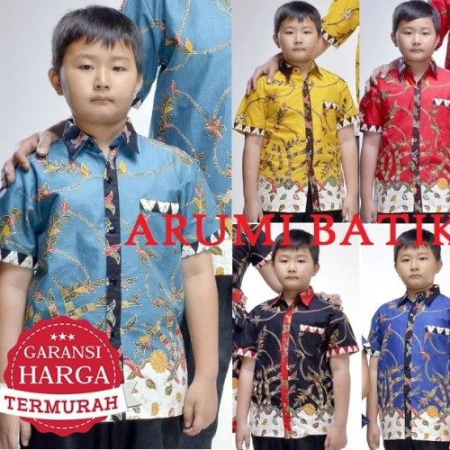 Foto Produk Kemeja / Hem / Atasan / Baju / Anak Laki Laki Batik 2183 6 - 12 Tahun dari Arumi Batik