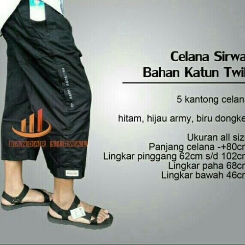 Foto Produk Celana sirwal dewasa all size 80cm/celana laa isbal dari Bandar Sirwal