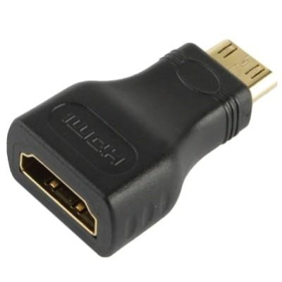 Foto Produk laris Adapter Mini HDMI Male ke HDMI 19 Pin Female dari el-nur