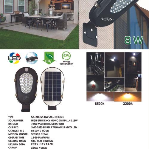 Foto Produk PJU Solar 8 Watt All in One/Integrated dari Multi Daya