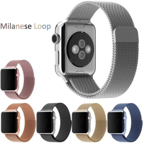 Foto Produk Apple Watch 38 / 40mm Milanese Loop Magnet Strap Band Stainless Series - Hitam dari Pro Glass