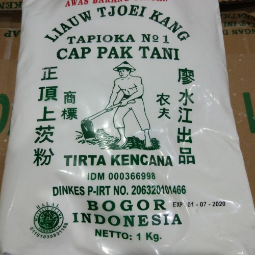 Foto Produk Sagu Cap Pak Tani Liauw Tjoei Kang / Tepung Tapioka 1 KG GROSIR dari Sinar Terang Regency