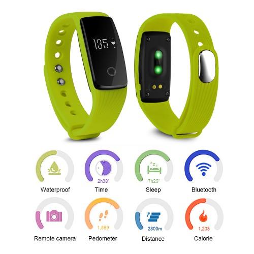 Foto Produk [SX] Activity Tracker Wristband Bracelet Bluetooth Pedometer -Green dari Toko Celica