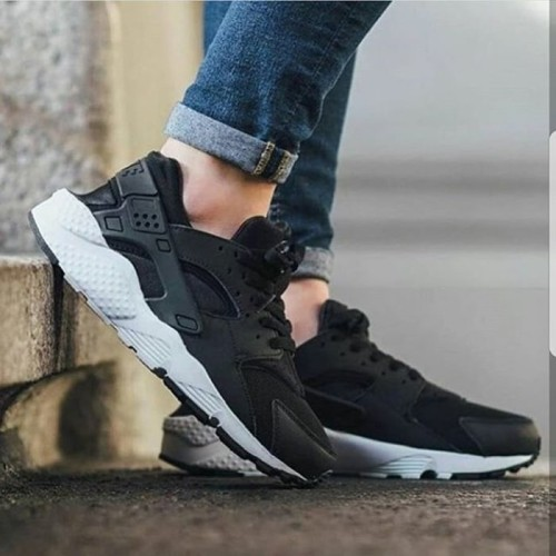 Nike Huarache Run Black White Premium Original Sepatu Nike