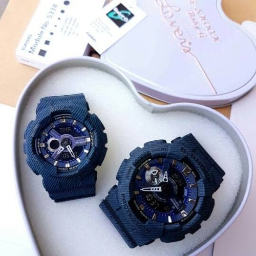 Foto Produk jam tangan couple merk casio Gshock ga 110 & Baby G ba 110 dari metta timeless