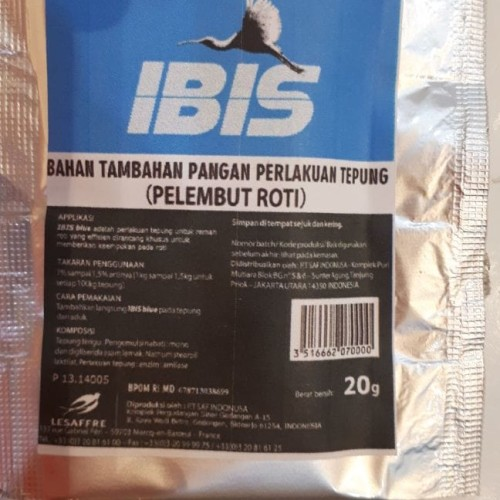 Foto Produk IBIS blue/pelembut roti/bahan roti 20gr dari fey's baking club