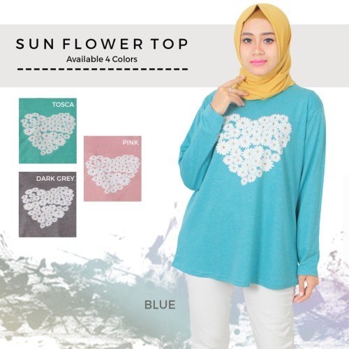 Foto Produk kaos fashion/ kaos muslim/ kaos big size sunflower top dari Iconique