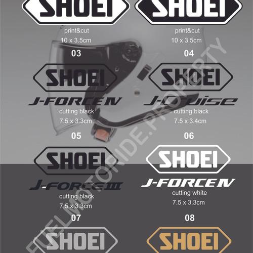 Foto Produk Sticker Logo Helm Shoei Halface J Force J Cruise KYT Kyoto INK AGV dari Fuel