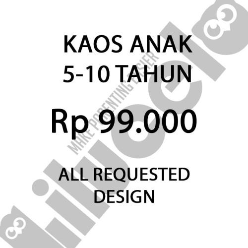 Foto Produk Kaos Anak 5-10 Tahun (Kids T-Shirt) design suka suka dari lilucelo